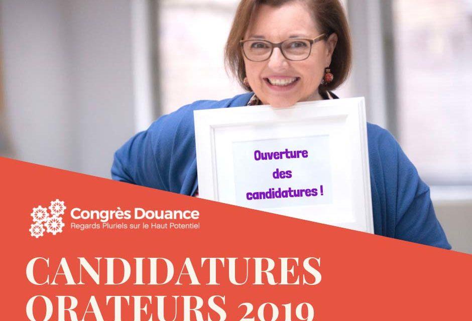 Appel à candidatures orateurs pour le congrès 2019 !